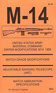 M-1 GARAND RIFLE NATIONAL MATCH MODIFICATION INSTRUCTION MANUAL by M /& M