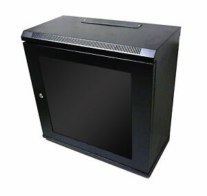 Image Is Loading 12U 300mm Black Wall Cabinet Network Data Rack