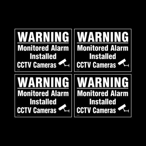 A6 signe Pack de 4-100 mm x 150 mm Autocollant Fenêtre CCTV - sécurité - misc36