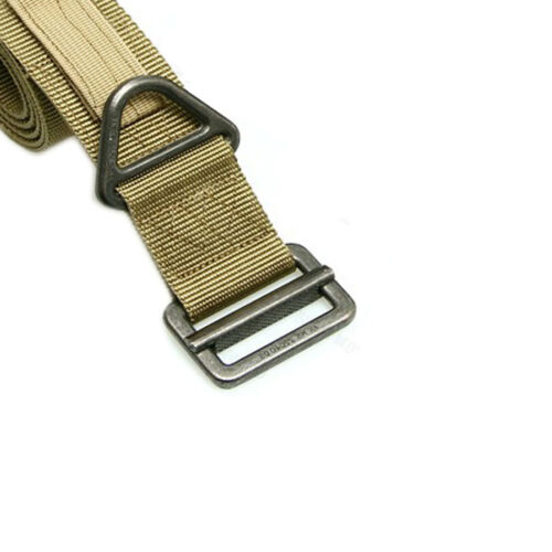Tactical Emergency Rescue Rigger Combat Nylon Duty Belt with Steel Buckle Strap