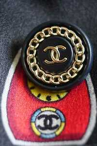 Chanel-button-1-pieces-metal-France-Logo-CC-size-18-mm-0-8-inch-black