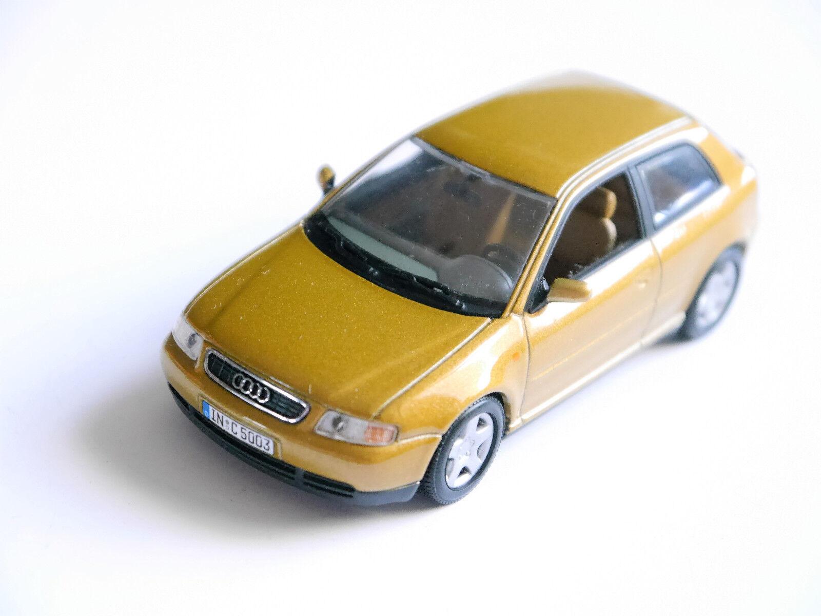 Audi a3 a 3 (tipo 8l) 3 puertas 3 Doors (1997) en oro metalizado, Minichamps en 1 43