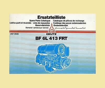 Deutz Dieselmotor Bf 6l 413 Frtersatzteillliste Original 1984 Preisnachlass