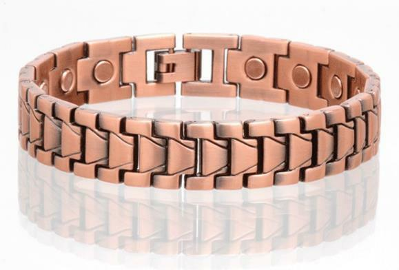 Copper Magnetic Link Bracelet Mens Womens Style Lj Jewelry Health Energy Ebay