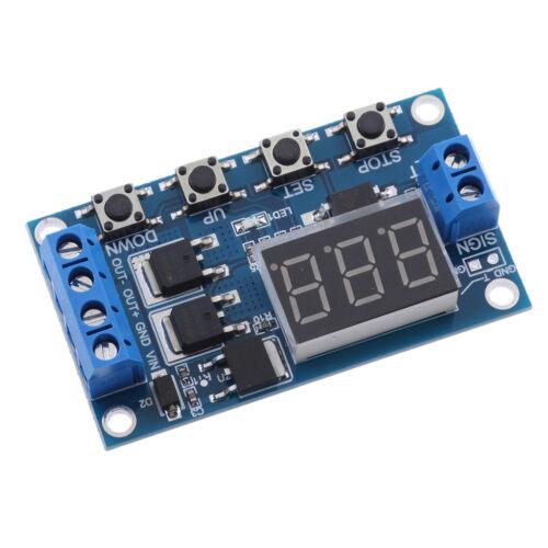 LED Digital Display Delay Timer Switch// Relay Module DC5V~36V Adjustable New
