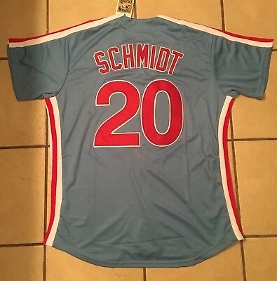 best sneakers 2d2bf 5f75d Mike Schmidt #20 Philadelphia Phillies size XL retro throwback CB jersey-  RARE! | eBay