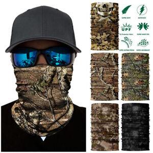 ACU Digital Green Camo FACE MASK Sun Shield Neck Headband Bandana Du Rag Skull