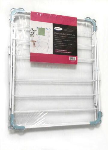 """ALL FOR YOU Metal Fold-able Drying Rack 3-Tier 25.4/""""x 21.6/""""x 51.6/"""""""