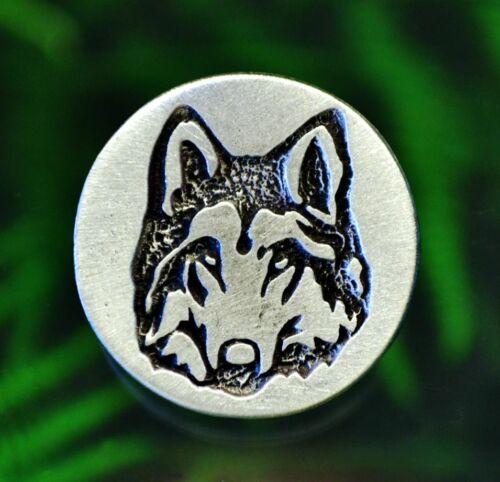 25 mm UU. botones de caña en estaño sin plomo Hecho en EE 2 Botones De Lobo1 pulgadas