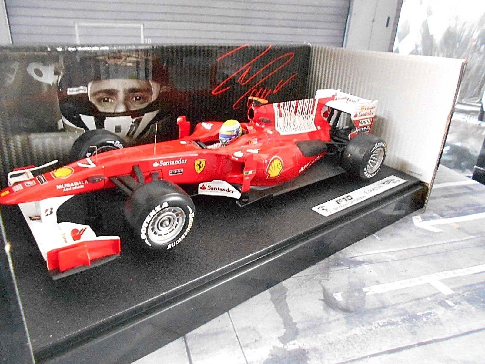 Ferrari f1 f2010 2010 f10 Bahréin gp massa mattel Hot Wheels sp 1 18