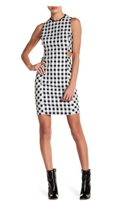 NWT  550 RAG & & & BONE Tahoe Plaid Cutout Dress Size 0 a1a894