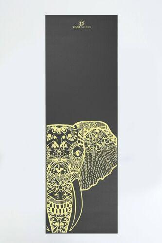 Elephant Designed Grey Non Slip Gym Pilates Workout Fitness Yoga Mat 6mm
