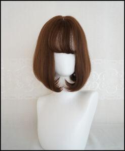 Korea Style Girl S Air Bang Bobo Short Curly Flaxen Daily Fresh Full