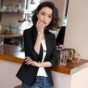 Costume Manches Court 7193 Slim Noir Veste Élégant Longues Femme rnqIxrwtz