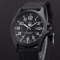 2016 Mens Watches Quartz Stainless Steel Analog Canvas Sports Date Wrist Watch