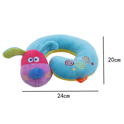 Travel Pillow Animal Neck Support U Shaped Cushion Plush for Airplane Train S3