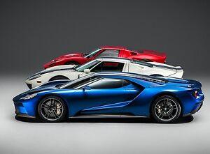 Image Is Loading Ford Gt Gt Evolution Lemans Race Car Art