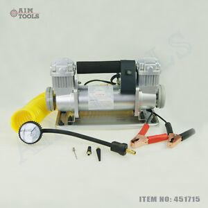 451715 12v professionnel large volume 4xwd compresseur air camion pneu 12 ebay. Black Bedroom Furniture Sets. Home Design Ideas
