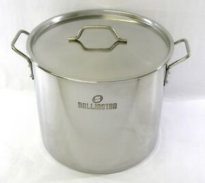 52-QT-Quart-13-Gal-Stainless-Steel-Stock-Pot-Steamer-Brew-Kettle-w-lid-BA76-52