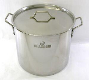 40-qt-Quart-Stainless-Steel-Stock-Pot-Steamer-Beer-Brewing-Kettle-Tamale-BA76-40