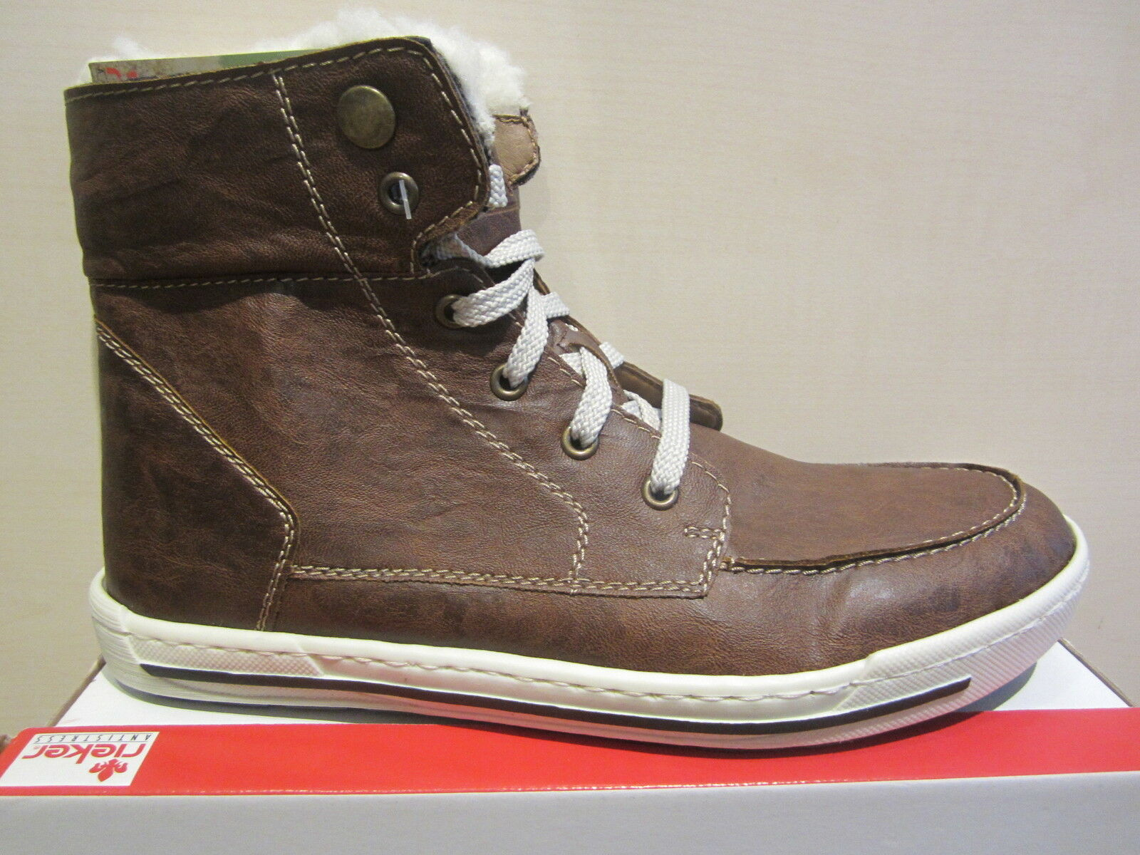 Rieker Boots, Brown Warm Lined New