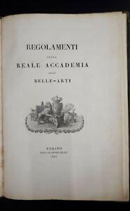 Regolamenti-della-Reale-Accademia-delle-Belle-Arti-Torino-1825