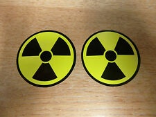 2x Nuclear / Radioactive symbol - 50mm sticker/decal
