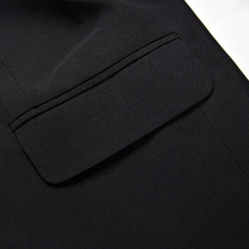 Herren Einreihig Großvater Kragen Jacke Blazer Japanisch Schuluniform Schmal