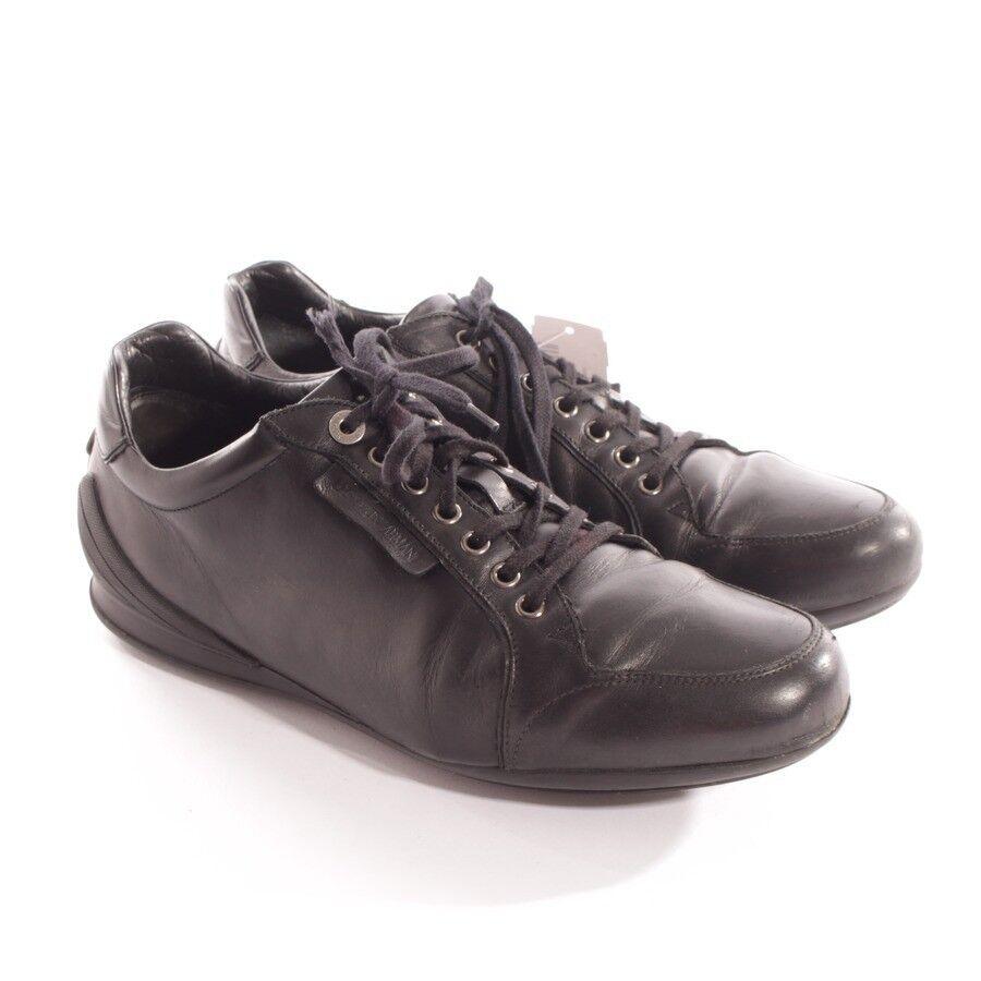 EMPORIO ARMANI Sneaker Gr. D D D 42,5 Schwarz Herren Schuhe Turnschuhe Leder Shoes dbf718