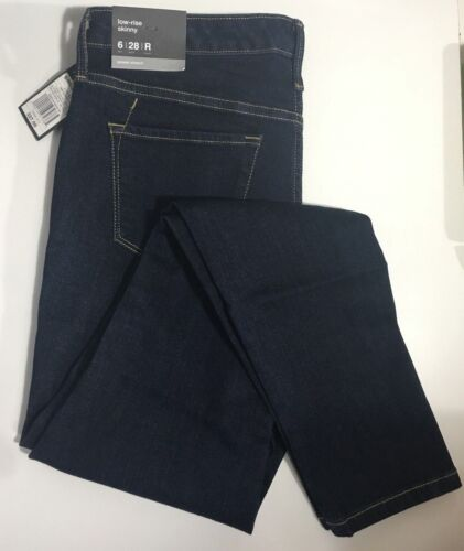 MOSSIMO Womens Jeans Low Rise Skinny Leg Power Stretch Dark Wash Denim 4 6 8 NWT