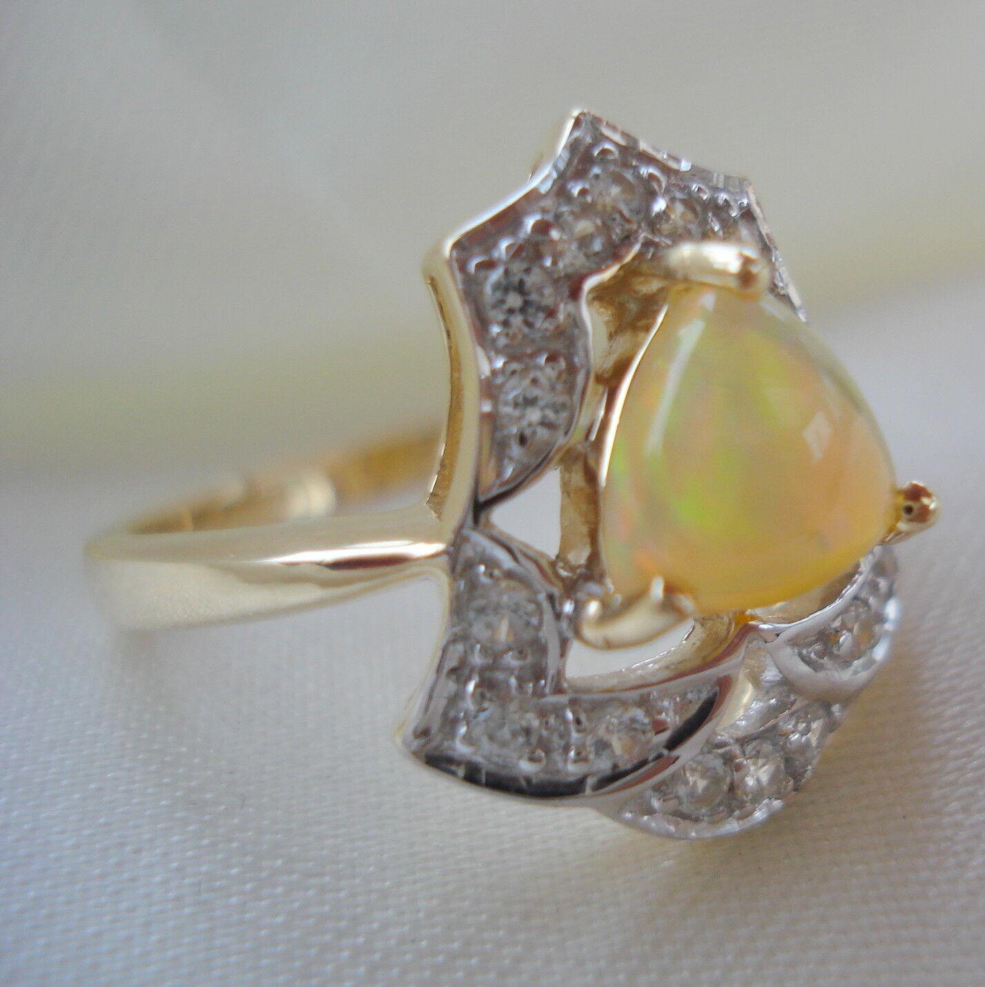 RARE Certified Natural indonesiano Opale Anello d'oro d'oro d'oro 478f4f