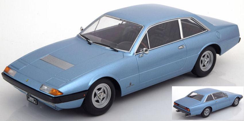 Ferrari 365 Gt4 2+2 1972 Light bluee Metallic 1 18 Model KK SCALE