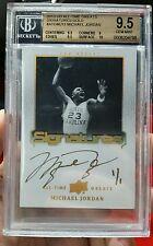 Michael Jordan  Auto 1/1 - 2013 UD All-Time Greats Signatures BGS 9.5/10 Gem Mt