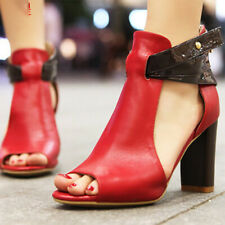 2982f7b5eb item 4 Women Ankle Strap Peep Toe High Block Heel Sandal Party Dress Shoes  Size 6 -10.5 -Women Ankle Strap Peep Toe High Block Heel Sandal Party Dress  Shoes ...