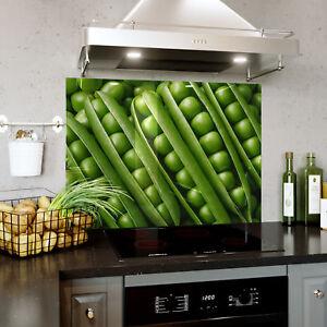 Pois Verts Nourriture Végétale Verre Splashback Cuisine & Salle De Bains Toute Taille 0436-afficher Le Titre D'origine Calcul Minutieux Et BudgéTisation Stricte