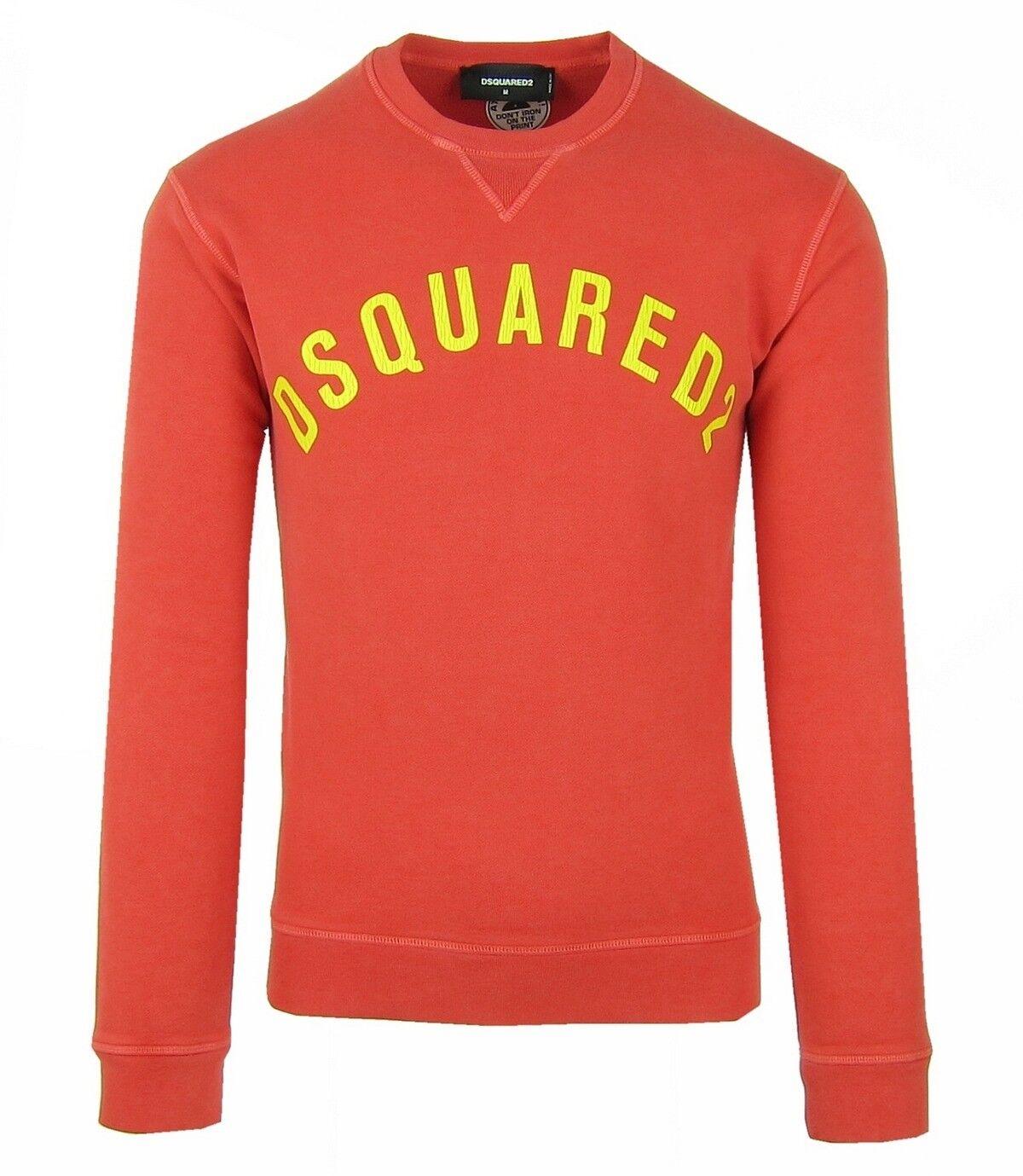 DSQUArot2 S74GU0155 Herren Men Sweatshirt Pullover Made in  Strawberry rot