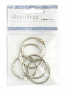 Kaisercraft-Album-Rings-5pk-3-5cm-Split-Hinged-Flip-Cards-Circle-Clip