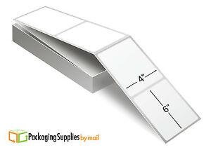"""4000 Fanfold 4"""" x 6"""" Direct Thermal Shipping Labels, 2000/Stack"""
