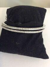 2  GIVENCHY Bracelet double bangle silver tone pave crystals  $58 Item 403