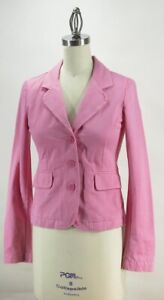 Juicy-Couture-Jeans-Pink-Cotton-Fitted-Blazer-Jacket-with-Pink-Heart-Sz-S