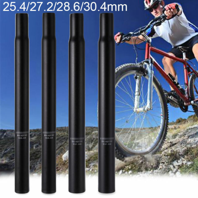 MTB BMX Road Bike Seat Saddle Post Tube Seatpost 25.4mm x 450mm Black