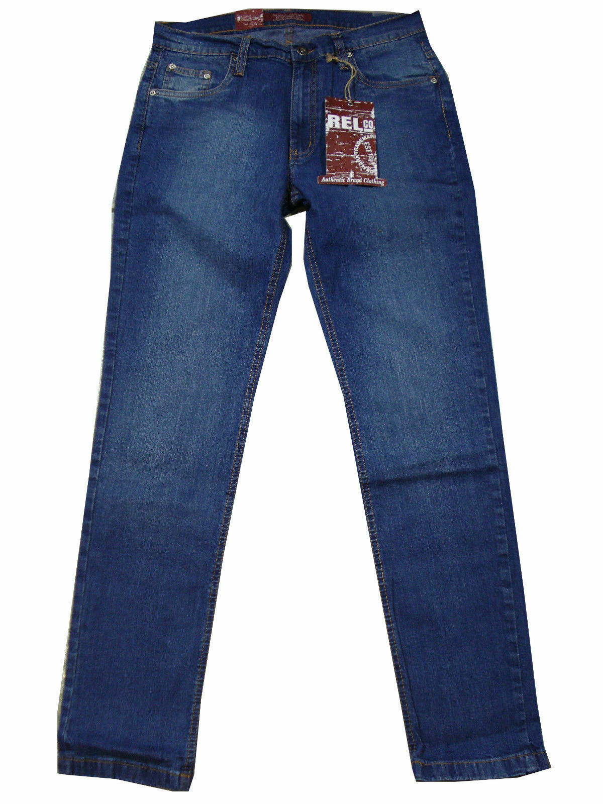 Herren RELCO LONDON enganliegend Stretch Stretch Stretch modische Jeans - blau gebleichtes Denim  | Clever und praktisch  07bfcb