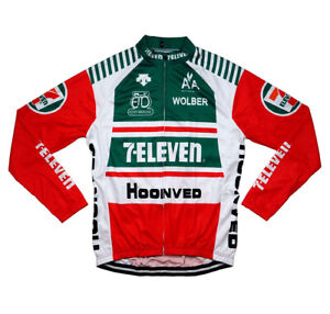 New Men Cycling Jerseys M Replica Retro 7-Eleven USA Bike Clothing Road Bicycle