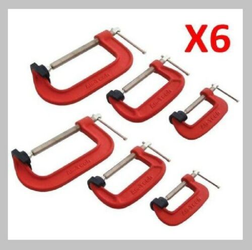 "AMTECH G-CLAMP SET 2/"" 3/"" /& 4/"" c//w SOFT JAW PADS 50mm 75mm 100mm G CLAMPS"