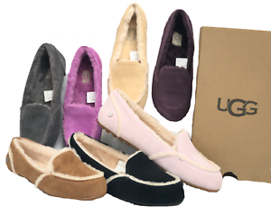 41f0c1c450e Details about UGG Australia Hailey Women's Sheepskin Suede Loafers 1020029  Shearling Chestnut