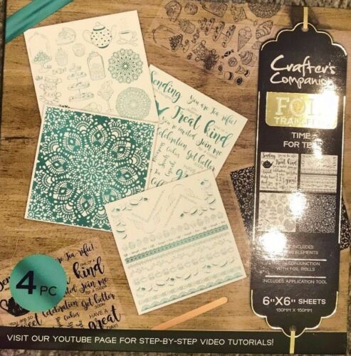 "nena, 6/"" Crafter/'s Companion Paquete de 4 hojas de transferencia de lámina de 6/"" fiesta de cumpleaños"