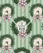 Home for the Holidays - Christmas Wreath Décor - Sage Green by Blank Textiles