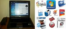 DELL LATITUDE D520 WIFI BLUETOOTH DUO 1.8Ghz 2GB 80GB DVD-CDRW WIN7 OFFICE AD0BE