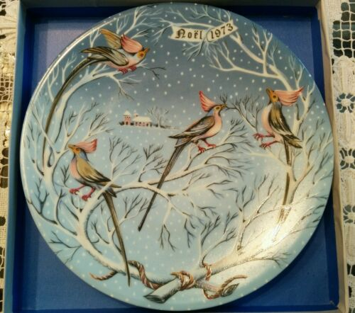 """Four Coly Birds"" Hetreau Twelve Days of Christmas Series Haviland"
