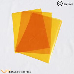 3-x-A5-sheets-Orange-Headlight-Film-for-Fog-Lights-Tint-Smoke-Car-Vinyl-Wrap